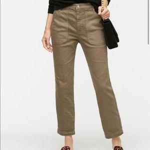 J. CREW Straight Leg Crop Jean Garment-dyed Denim